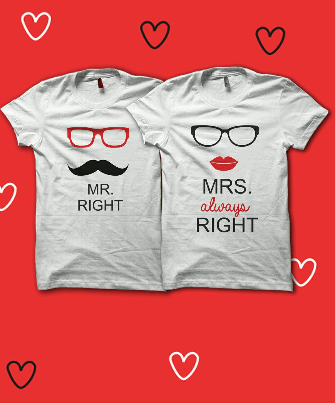 Buy right couple t shirt best prices in india kraftly for Buy couple t shirts online india