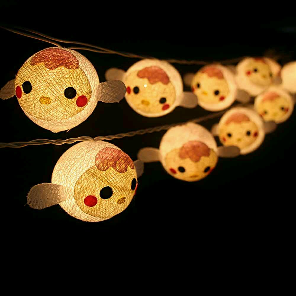 buy sheep cotton ball string lights online india at