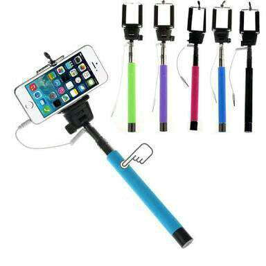 buy 7 pic es selfie stick with aux cable combo offer at 50 off online india at kraftly. Black Bedroom Furniture Sets. Home Design Ideas