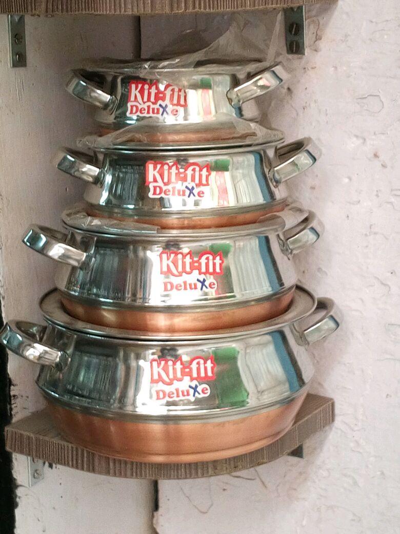 Buy kit fit handi set at 7 off online india at kraftly for Kitchen set bartan