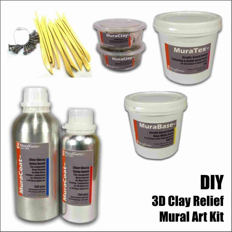 Buy diy 3d mural art kits 3d clay relief combo pack do it yourself buy diy 3d mural art kits 3d clay relief combo pack do it yourself kit best prices in india kraftly may 2018 solutioingenieria Images