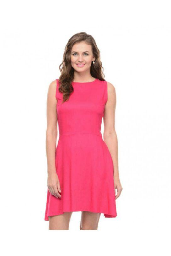 lataclothinghub Pink Flare Back Bow Dress