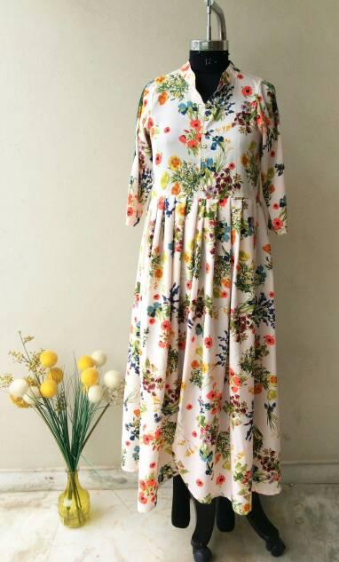 hangonfashion White Floral Dress