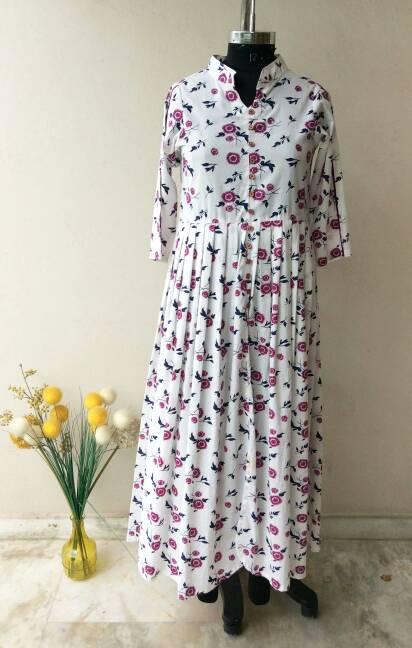 hangonfashion Mughal Booti Cotton Maxi Dress